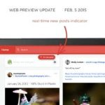 Google introduced Google+ updated web interface