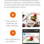 Google is testing the attachment of the food photos in Maps