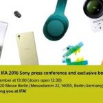 Sony send out invitations to the exhibition IFA 2016