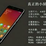 Xiaomi flagship lit up with a small screen