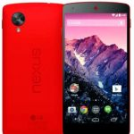The official announcement of the start of sales and neon-red Google Nexus 5