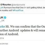 HTC One X and HTC ONE X + will be left without Kit Kat