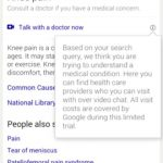 Google is testing an online consultation with a doctor function