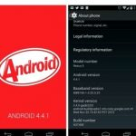 Google has released an update Android 4.4.1 KitKat