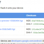 Image update Android L for the Nexus 5 and Nexus July 2013