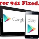 941 Android Play Market, how to fix the error?