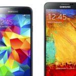 Samsung Galaxy S5 vs. Galaxy Note 3