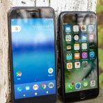 Compare smartphones: Google Pixel vs Apple iPhone 7